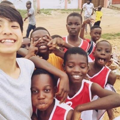 ガーナでサッカー D.M.